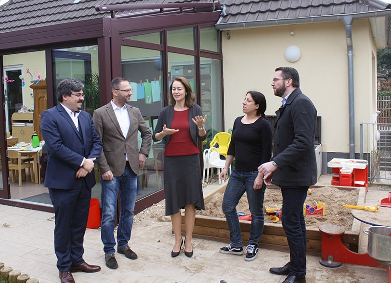 """Besuch der SPD-Generalsekretärin Katarina Barley in der VFG-Kita """"Schatzinsel"""""""